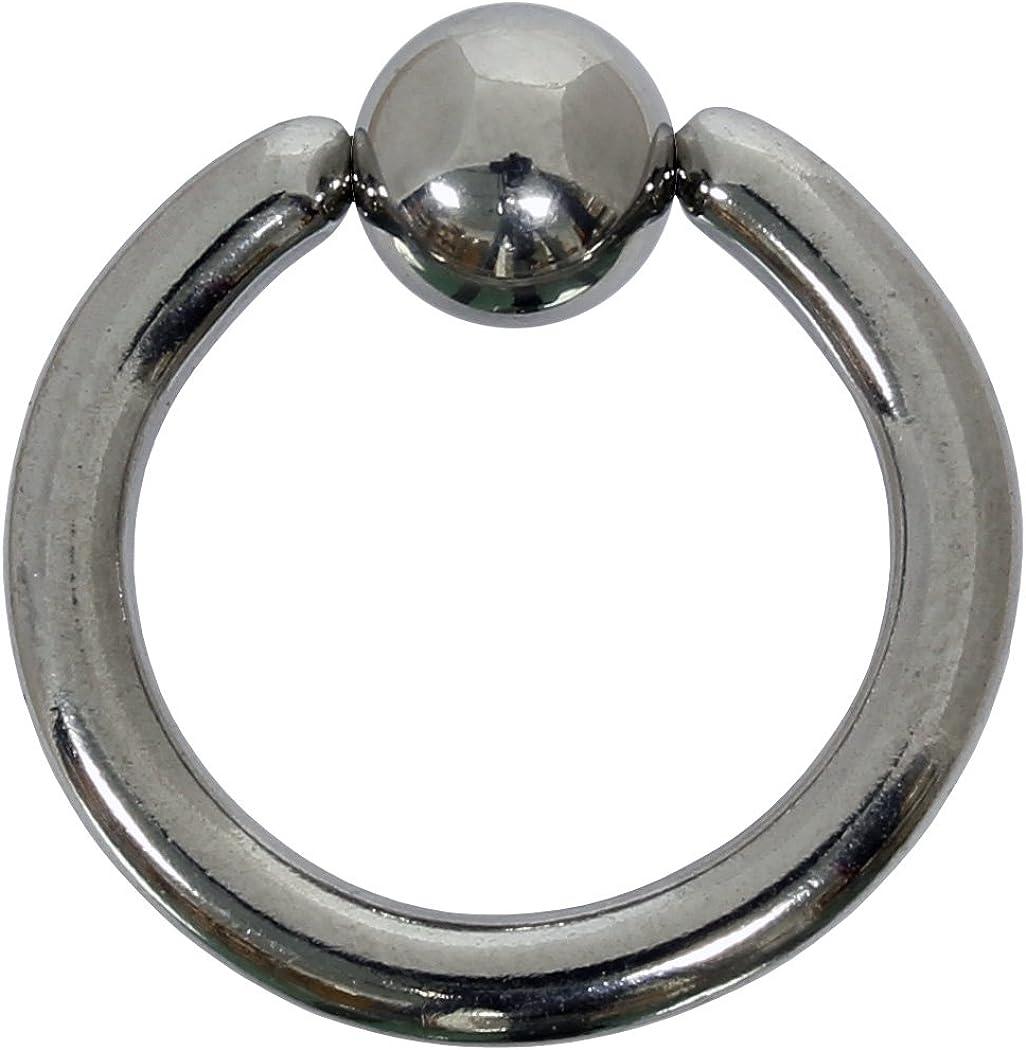 Sujeción Bola Anillo 2,5mm de acero quirúrgico 316L–Piercing BCR–Tamaño a Elegir