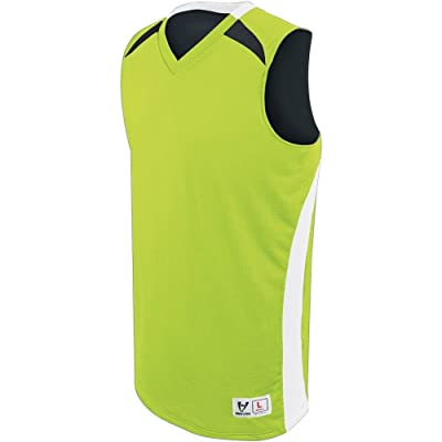 High Five Youth Campus Reversible Jersey,Lime/White/Black,Medium