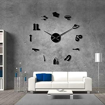 Djkaa Tienda Sexual Vector DIY Reloj De Pared Gigante Erótico Arte De Pared Íntimo Juegos De Papel Obra De Arte Reloj Moderno Reloj De Pared Hogar Salón ...