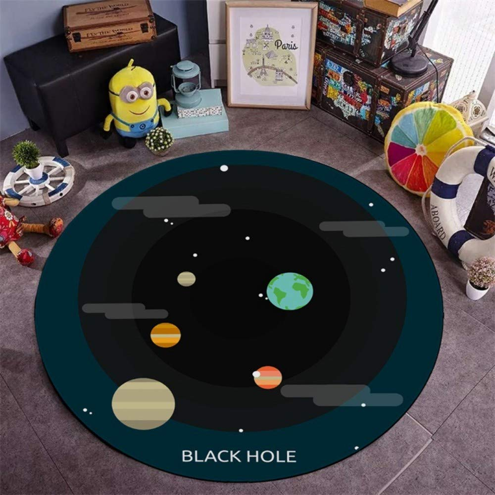 180 cm jxhome Round rug for printing and dyeing   hanging basket   nonslip   kids   cartoon   living room   mat LOGO Pet mat   180cm