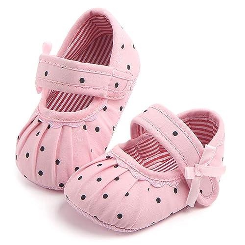 Zapatos Bebe NiñO NiñA Rojo 1 Par Bebé ReciéN Nacido Suela Suave ...