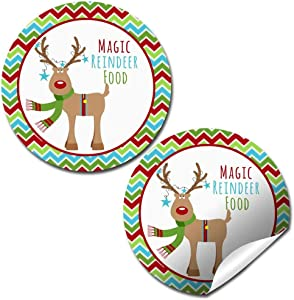 Magic Reindeer Food Holiday Christmas Thank You Sticker Labels, 40 2