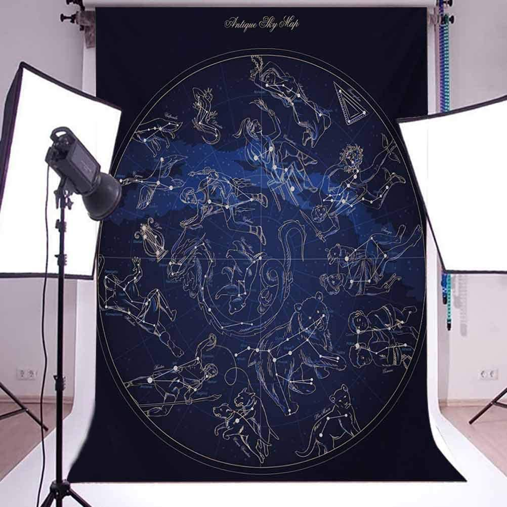 Constellation 6.5x10 FT Photo Backdrops,Antique Sky Map with Hand Drawn Mythological Figures History Galaxy Background for Baby Shower Birthday Wedding Bridal Shower Party Decoration Photo Studio