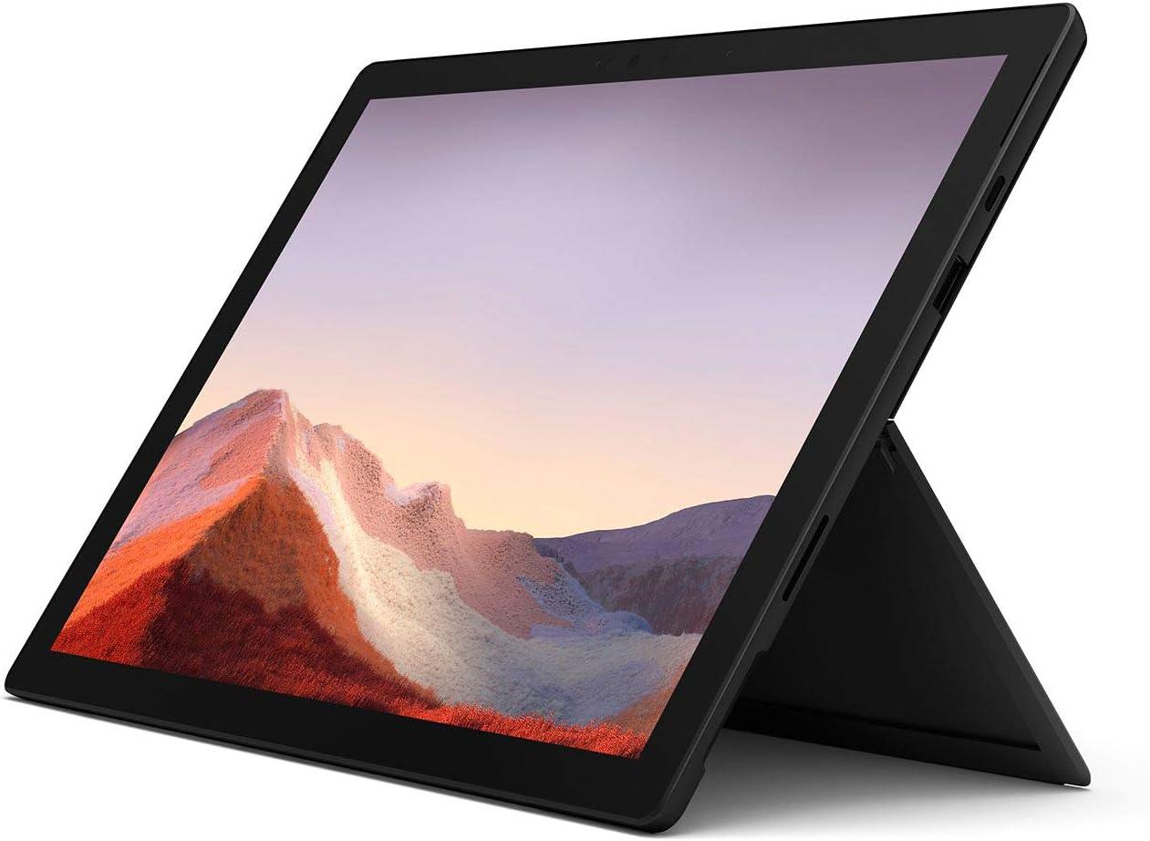 Microsoft Surface Pro 7 256GB i7 16GB RAM Windows 10 Pro (Wi-Fi, 1.3GHz Quad-Core i7 up to 3.9GHz, 12.3 Inch Touchscreen) Matte Black PVT-00015