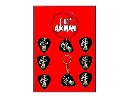 Axman Francis Rossi - Juego de 6 púas + 1 Llavero + 1 Collar ...