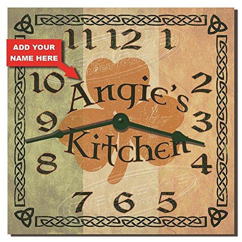 - Irish Kitchen Personalized Hardboard Kitchen Clock from Redye Laserworks