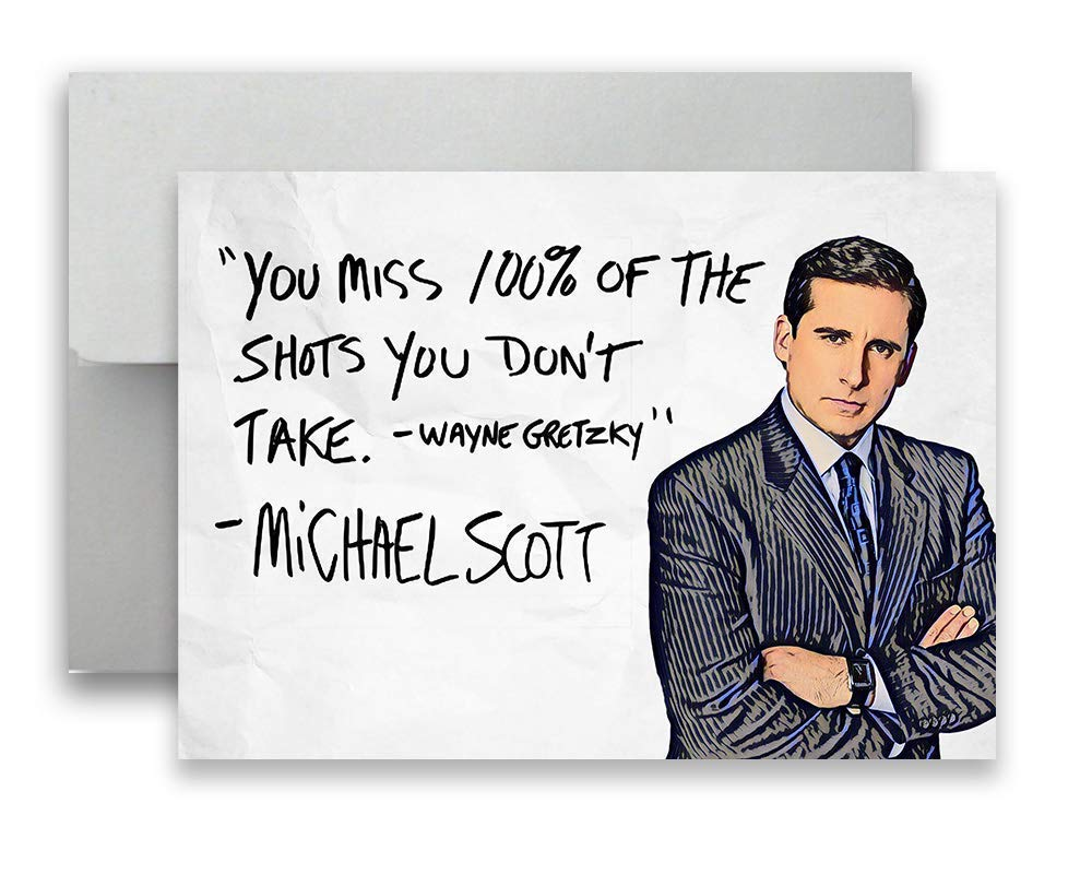 Michael Scott The Office Card Wayne Gretzky Flat Postcard 5x7 inches w/Envelope