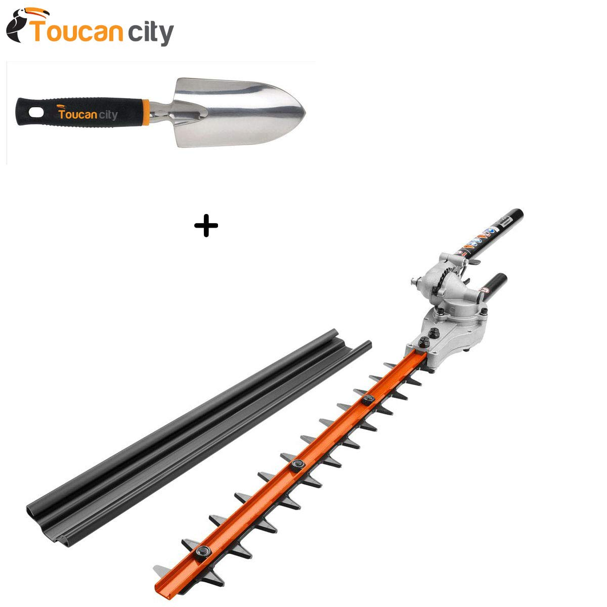 Toucan City Softouch Hand Trowel and Ryobi Expand-It 15 in. Articulating Hedge Trimmer Attachment RYAHT99
