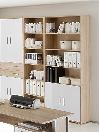 Küche küche weiß eiche : OFFICE LINE Schrank 2 Türen Eiche Sonoma/weiß: Amazon.de: Küche ...