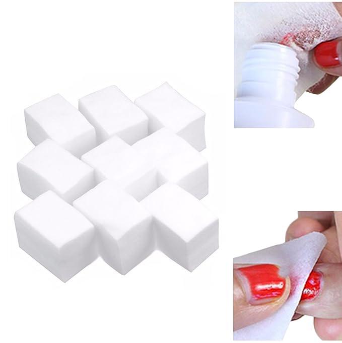 900pcs uñas arte manicura polaco Remover Limpiador Limpiador pelusa almohadillas de algodón papel: Amazon.es: Belleza