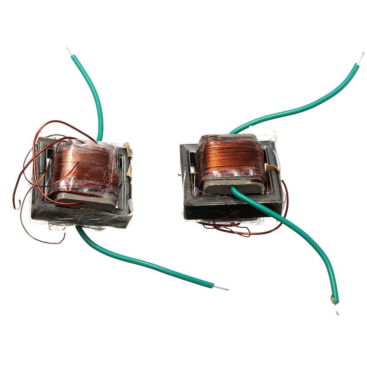 Ils - 2 Piezas 10KV de Alta frecuencia Transformador de Alto Voltaje de la Bobina de Refuerzo inversor: Amazon.es: Electrónica