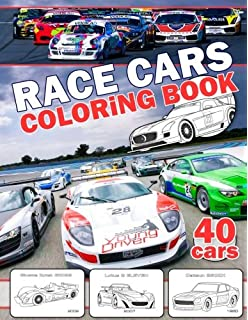 Race Car Coloring Book: 30 High Quality Race Car Design for Kids of ...