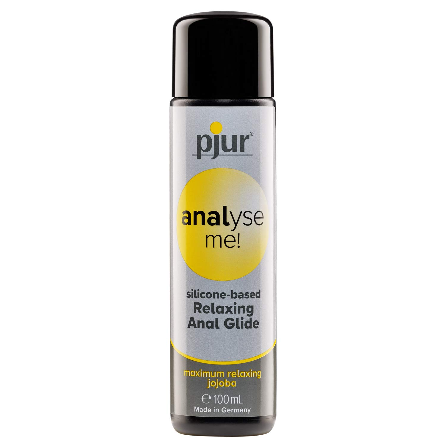 pjur Analyse me! Relaxing Silicone Anal Glide - Silicone-Based Personal Lubricant for Comfortable Anal Sex - Extra-Long Lubrication (100ml)