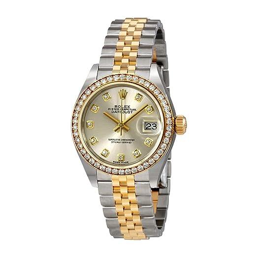 Rolex 279383SDJ- Reloj automático con Esfera de Diamante de Plata para Dama: Amazon.es: Relojes