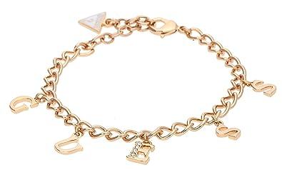 Guess Damen-Armband Iconic Charme Edelstahl teilvergoldet Kristall Weiß 20  cm-UBB61082-S  Amazon.de  Schmuck 6e70f9d7b8