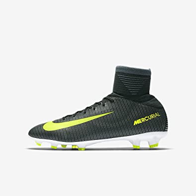 2e979f1f1e8 Nike Kids Mercurial Superfly V CR7 FG Seaweed Volt Hasta White Soccer Shoes