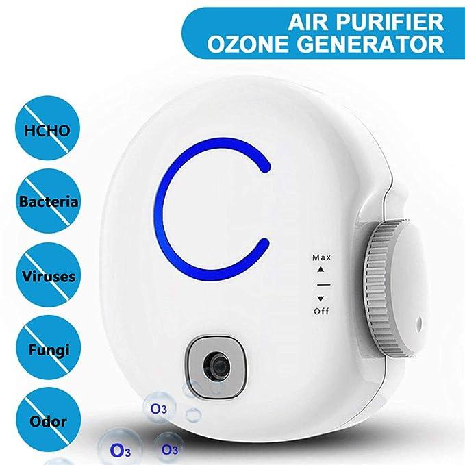 YSCCSY Purificador de Aire portátil y generador de ozono Eliminador de Olor Plug-In O3 0-50Mg 100-240V Desinfector Desodorante Ozonizador Iónico: Amazon.es: ...
