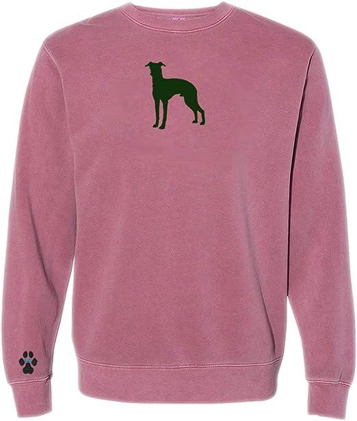 Heavyweight Pigment-Dyed Sweatshirt with Italian Greyhound Silhouette