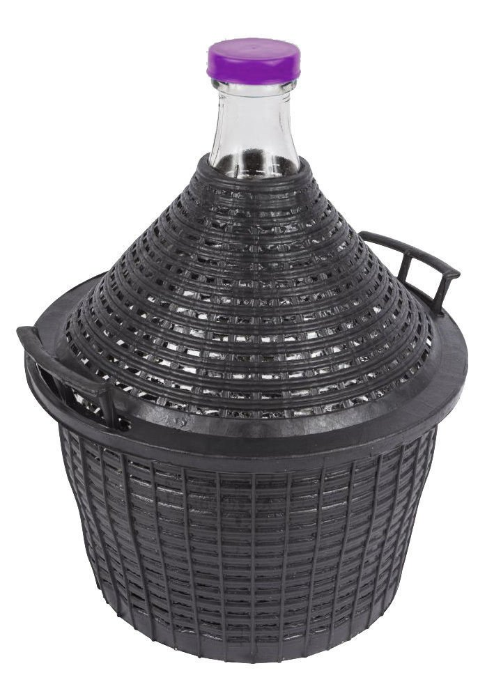 Demijohn in a plastic basket for Home Wine making 15L Carboy