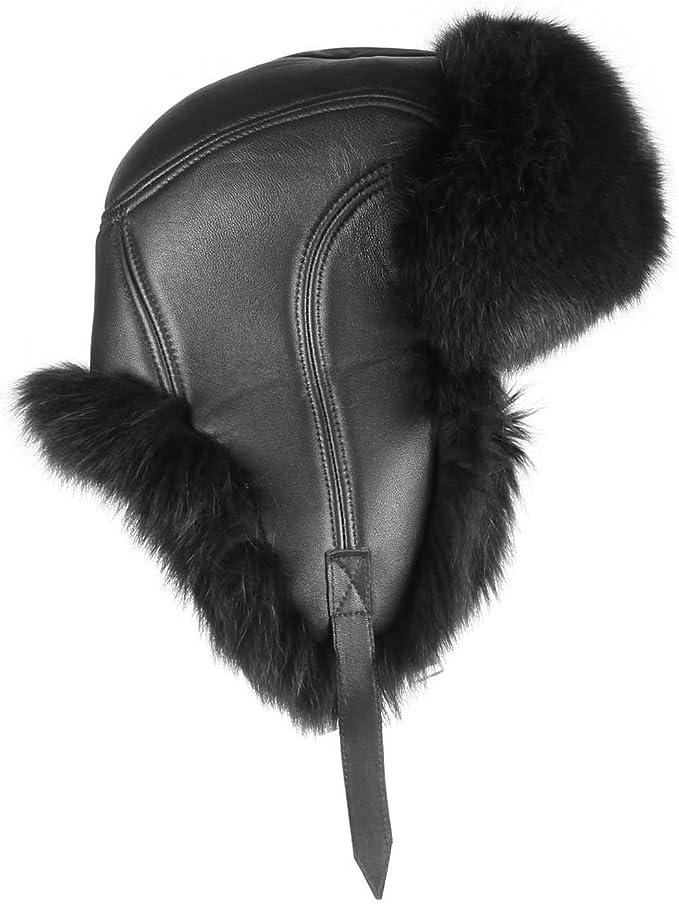 Mujer Zorro azul sombrero sombrero de piel Gorro polar gorro de ...