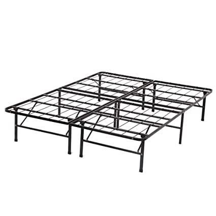 Amazon.com: Modern Bi-Fold Full Folding Platform Metal Bed Frame ...