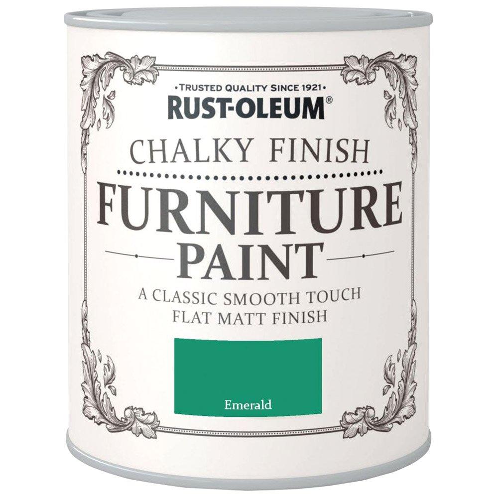 Rust-Oleum Chalky Finish Furniture Paint Emerald Green Matt - 750ml