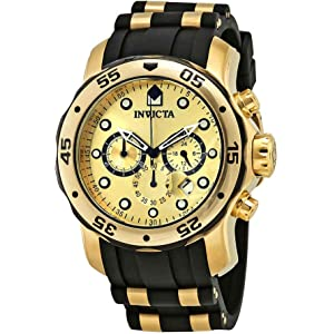 Invicta Mens Pro Diver Ion-Plated Stainless Steel Watch with Polyurethane Band (Model 17885