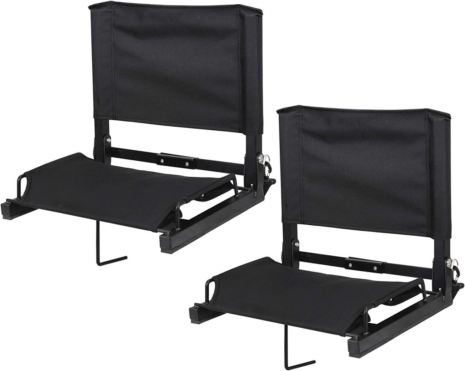 Wide Portable Stadium Chairs with Back Support and Shoulder Strap Bleacher Seats with Ultra Padded Comfy Foam Backs and Cushion Jauntis Stadium Seats for Bleachers