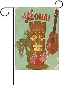 senya Double Sided Yard Garden Flag, Vintage Hawaiian Aloha Home House Outdoor Flags, Graduation Decorations Gifts, 12