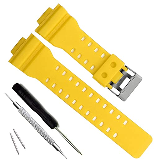 35c617776ec Natural Resin Replacement Watch Band Strap for Casio Mens G-Shock GD120 GA-