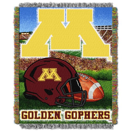 (NCAA Minnesota Gophers Home Field Advantage Woven Tapestry Throw, 48