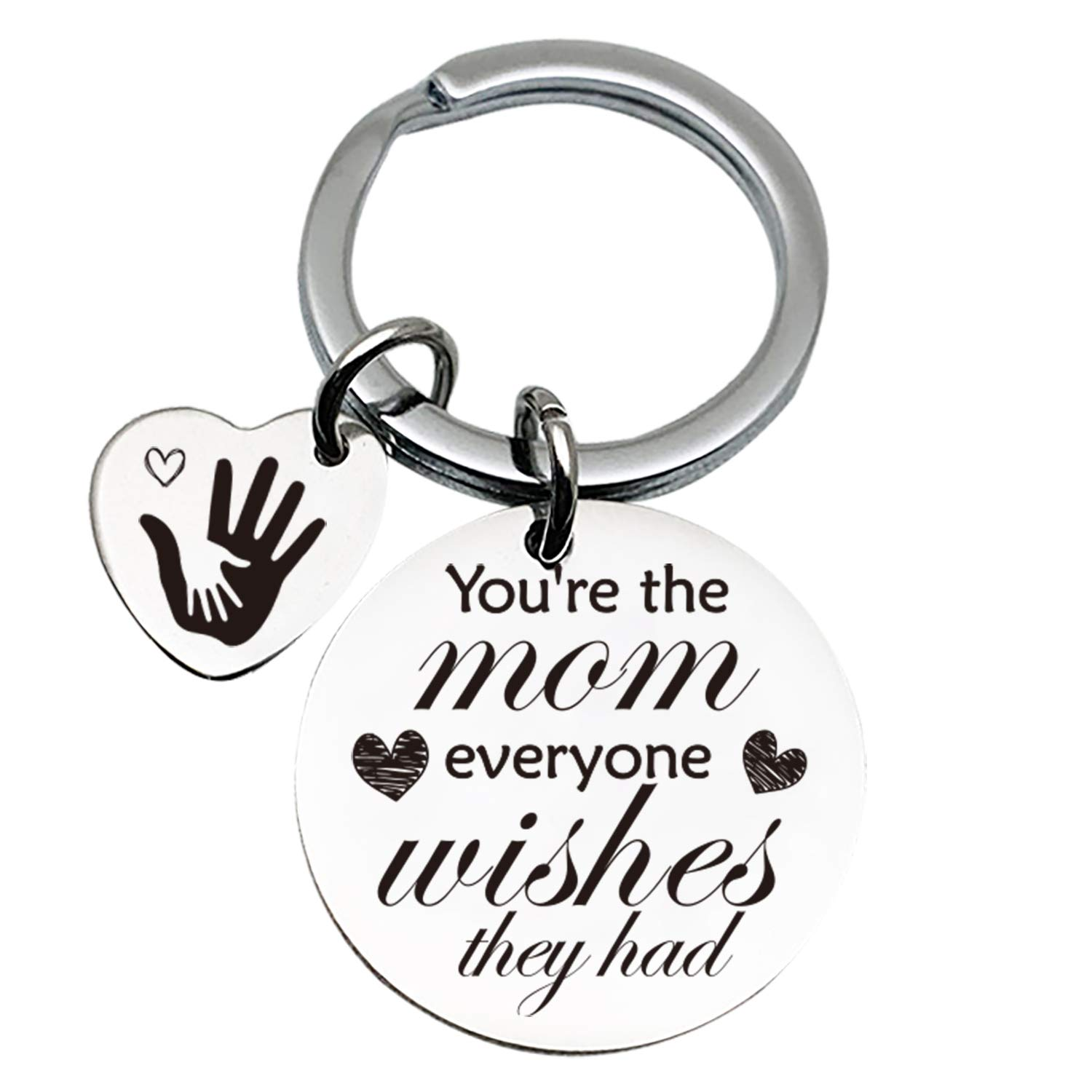 Mother Love Quotes Stainless Steel Key Chain Ring - Mother\'s Day Keychain -  Best Mom Birthday Gifts from Son Daughter Husband - You\'re The Mom ...