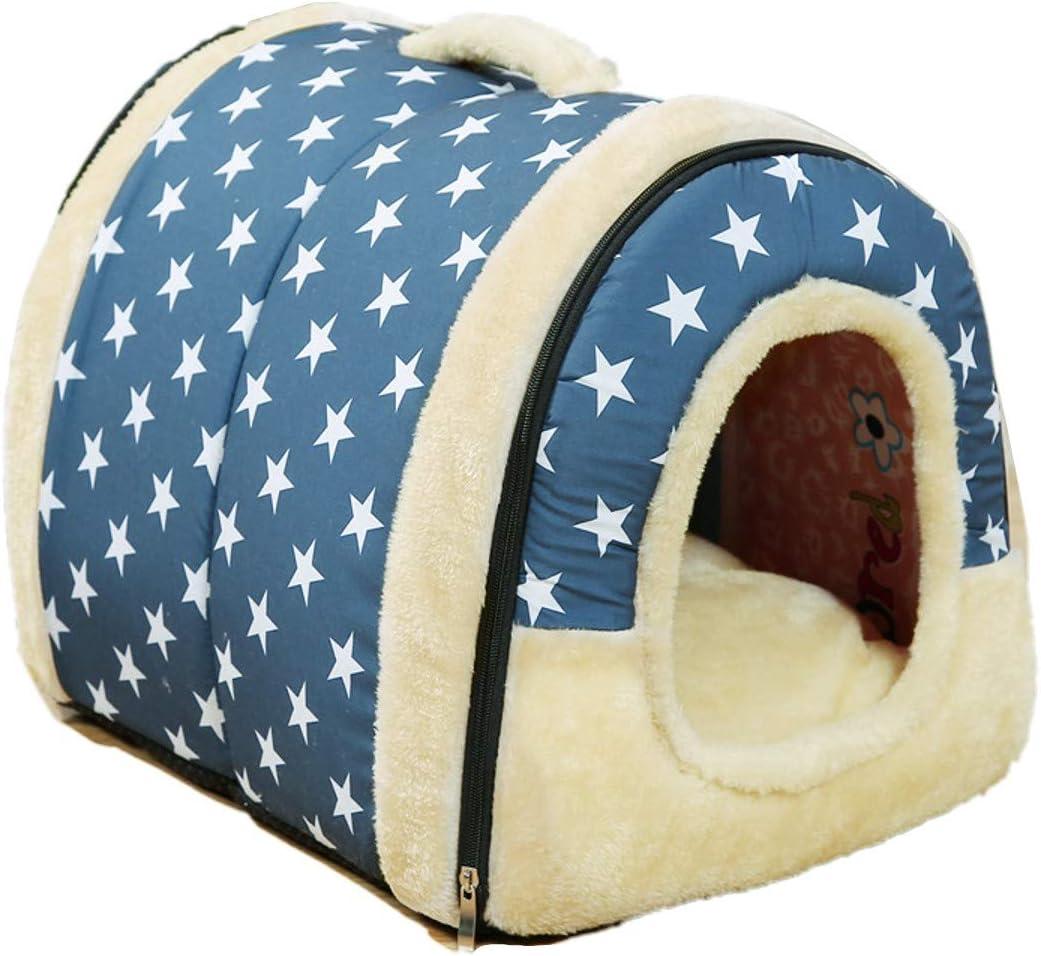 JZK Cama Gatos y Perros casa de Mascotas Suave y calentito Nido Cueva sofá para Gatos Perros Conejos y Cachorros