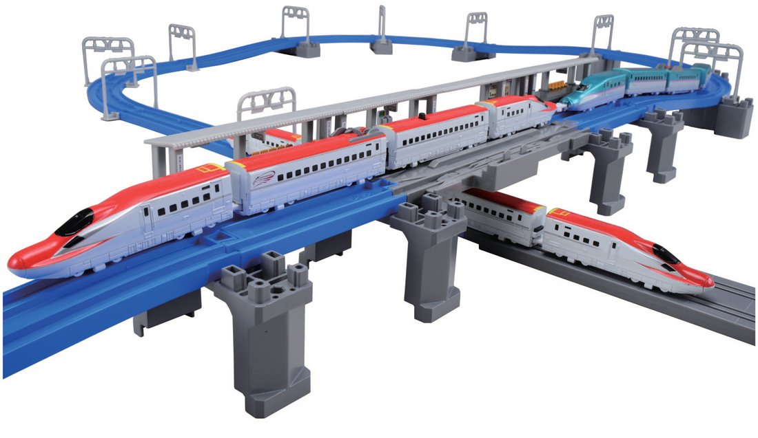Pla Advance E6 Shinkansen consolidated and three-dimensional cross rail set (japan import)