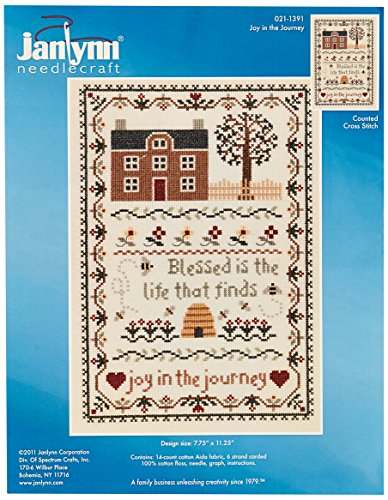 Janlynn Joy in The Journey Counted Cross Stitch Kit, 7-3/4 by 11-1/4-Inch, 14 Count from Janlynn