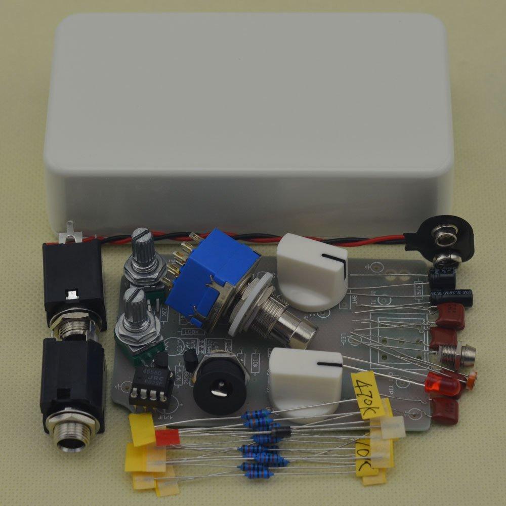 TTONE DIY Compressor Effect Pedal Guitar Stomp Pedals Kit White