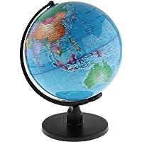 Dolity 25cm/20cm Swivel Stand World Map Globe for Desktop Decoration Geography Education - Blue, 25cm