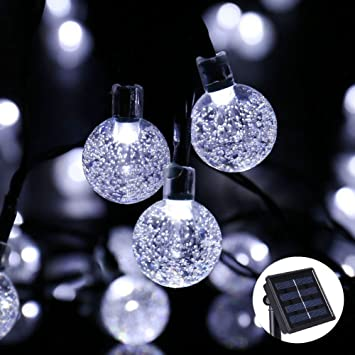 Candora solar globe string lights outdoor 30 led warm whitewhite candora solar globe string lights outdoor 30 led warm whitewhitecolour crystal ball aloadofball Image collections