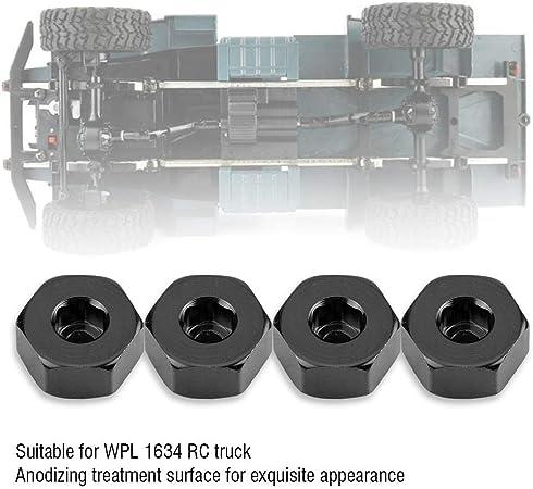 Blu CVBN Dadi esagonali in 4 Pezzi Realizzati con Ruota in Lega di Alluminio con Adattatore per Perno per mozzi di Trasmissione per Auto 4WD RC