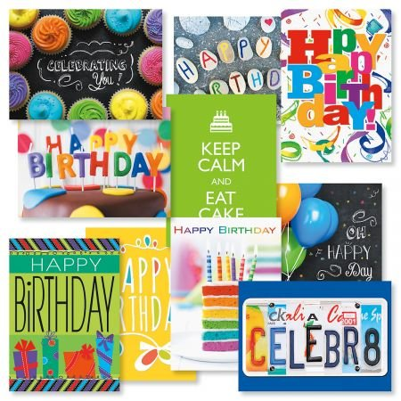 Big Words Birthday Cards Value Pack - Set of 20 (2 of each design) 5