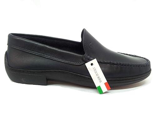 VALLEVERDE - Mocasines de Piel para hombre azul azul 43: Amazon.es: Zapatos y complementos