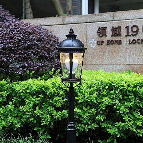 Vampsky European Outdoor Rainproof Garden Patio Lawn Light Floor Lamp Simple Modern Villa Street Column Lamp Post Light Decoration Waterproof Aluminum Metal Table Light E27 Decoration Illumination