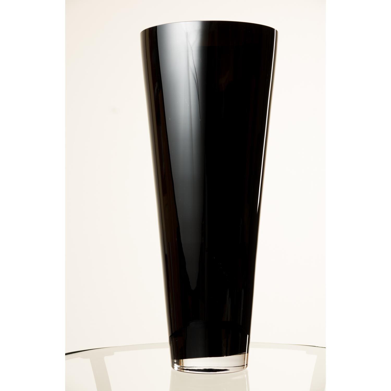 Tall conical glass vase anna black 1693 43 cm 709 tall conical glass vase anna black 1693 43 cm 709 18 cm flower vase table vase inna glas amazon kitchen home reviewsmspy