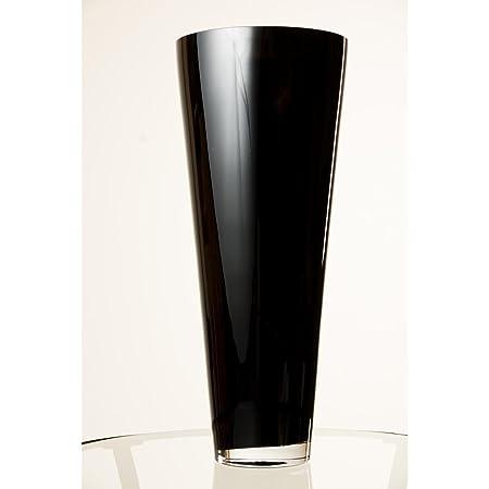 Tall Conical Glass Vase Anna Black 1693 43 Cm 709 18