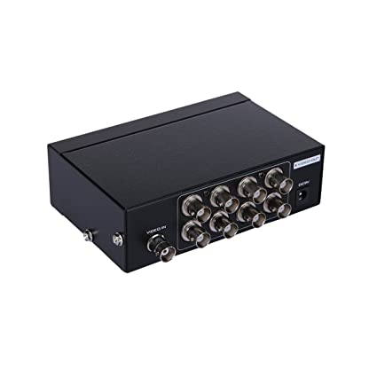 AuviPal 8-Port (1 input 8 output) BNC Video Splitter Box Coaxial Distributor