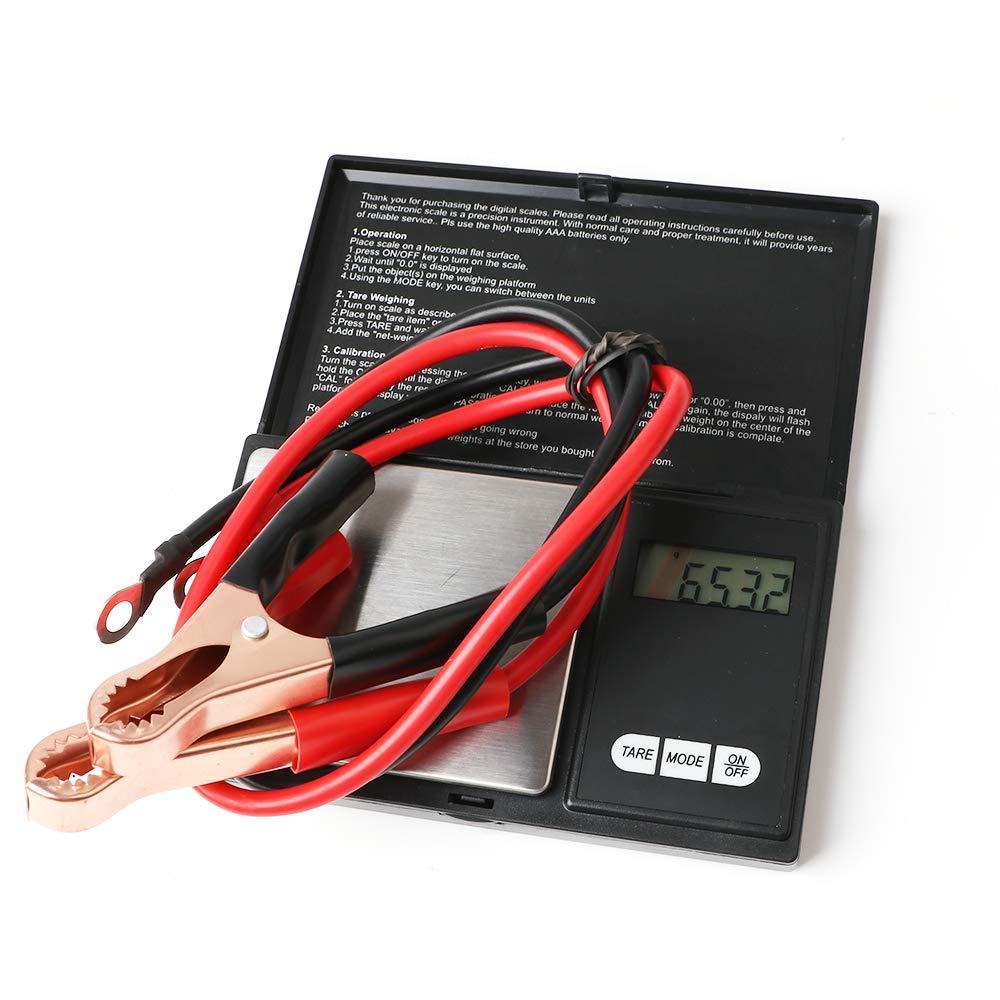 4Pcs 50A Batteriekabel Krokodilklemme pince pour batterie Ligne de c/âble dalimentation de ligne de c/âble de batterie de voiture pour pince crocodile pour onduleur haute puissance