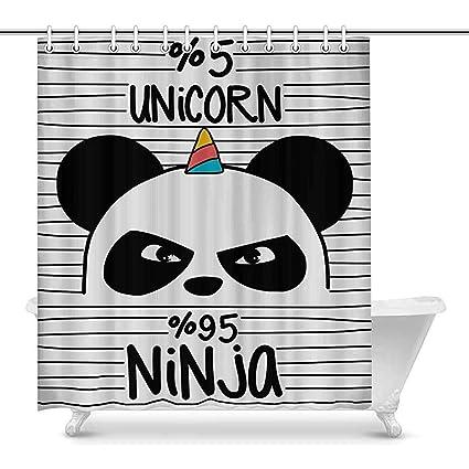 Willie Gray Lindo Panda Ninja con Cuerno de Unicornio ...