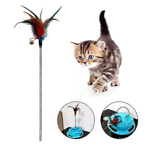 pengyu- Tocadiscos de Juguete para Mascotas, Gatos, Gracioso ...