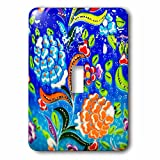 3dRose Danita Delimont - Artwork - Ancient Arab Islamic Blue Orange Flower Design, Madaba, Jordan - Light Switch Covers - single toggle switch (lsp_276929_1)