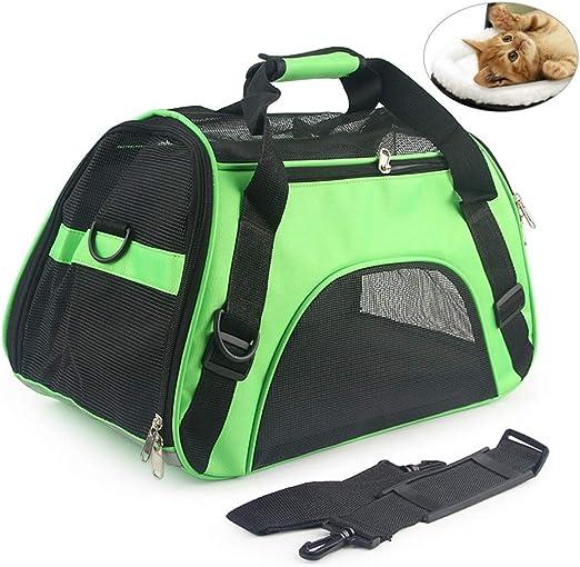 Deylaying Lados Blandos Transportín de Mascotas para Perros Pequeños, Gatos y Cachorros, Bolso de Viaje para Transporte en Coche/Tren/Avión: Amazon.es: Productos para mascotas